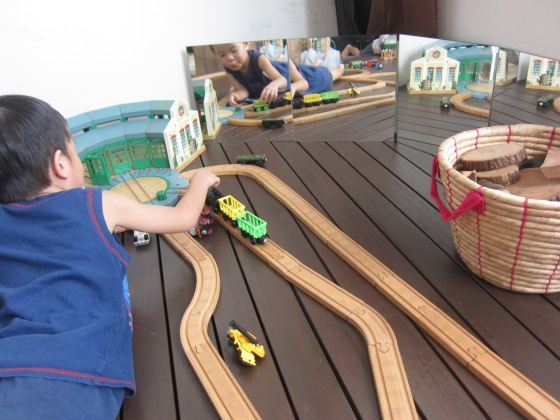 And of course, the trains area where the boys spend the most time